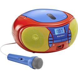 FM rádio s CD prehrávačom Karcher RR 5026, CD, USB, UKW, červená, modrá, žltá
