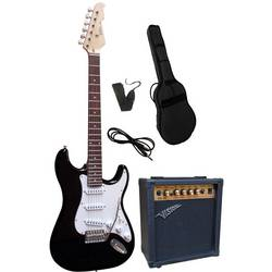 Sada elektrickej gitary Vision Guitar VG 15, čierna, vr. púzdra, vr. zosilňovača