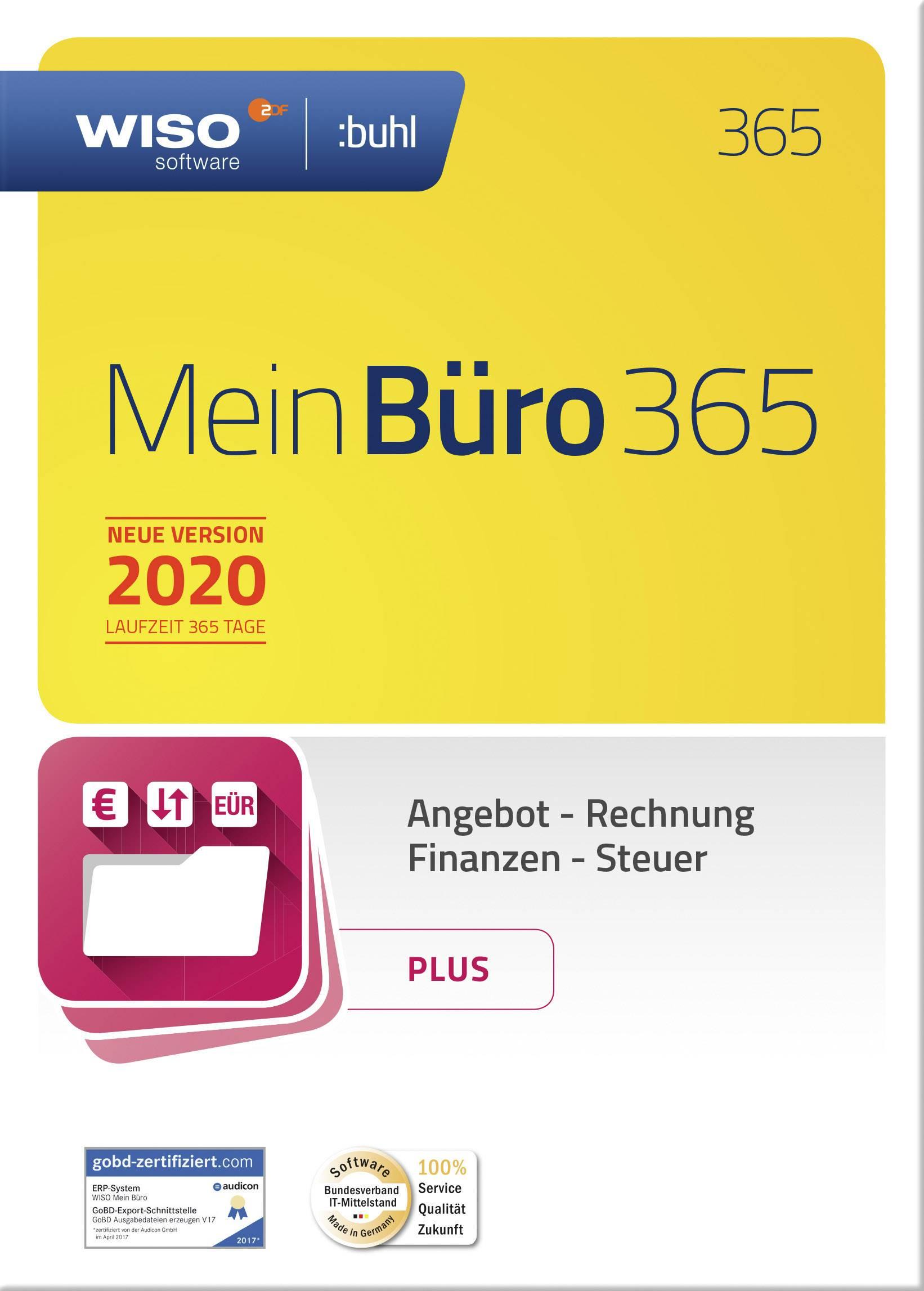 Wiso Mein Büro 365 Plus 2020 Vollversion 1 Lizenz Windows Büroorganisation