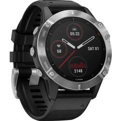 Smart hodinky Garmin fenix 6 Silver w/Black Band (no MAP/Music/Pay)