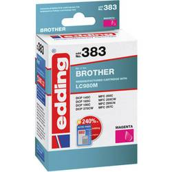 Kompatibilná náplň do tlačiarne Edding EDD-383 Brother LC980 magenta - REMAN - 18-383, purpurová