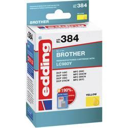 Kompatibilná náplň do tlačiarne Edding EDD-384 Brother LC980 yellow - REMAN - 18-384, žltá
