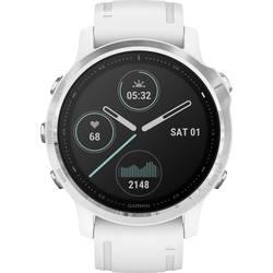 Smart hodinky Garmin fenix 6S Silver w/White Band (no MAP/Music/Pay)