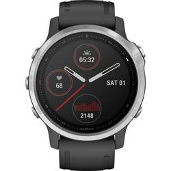 Smart hodinky Garmin fenix 6S Silver w/Black Band (no MAP/Music/Pay)