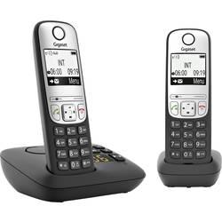 Image of Gigaset A690A Duo DECT Schnurloses Telefon analog Freisprechen, mit Basis, Wahlwiederholung Schwarz