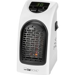 Teplovzdušný zásuvkový ventilátor Clatronic HL 3738 263909, 350 W, biela, čierna