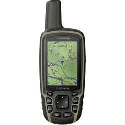 Outdoorová navigácia kolo, geocaching, turistika Garmin GPSMAP 64sx svět, Bluetooth®, GLONASS, GPS, chránené proti striekajúcej vode