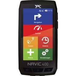 Navigácia na bicykel turistika, kolo CicloSport Navic400 Evropa, Bluetooth®, GPS, vr. topografických máp, chránené proti striekajúcej vode