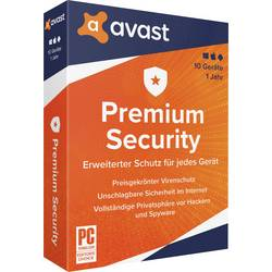 Image of avast Premium Security - 2020 (Multi-Device) Vollversion, 10 Lizenzen Windows, Mac, Android, iOS Antivirus
