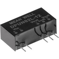DC / DC menič napätia do auta Mean Well DPUN02L-12, +12 V/DC, -12 V/DC, +83 mA, 2 W