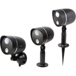 Vonkajšie svetlo s PIR senzorom Technaxx TX-107 schwarz 4759, plast, čierna