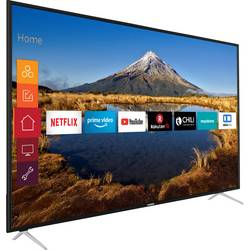 Telefunken D65U546A LED TV 164 cm 65 palca en.trieda A + (A +++ - D) DVB-T2, DVB-C, DVB-S, UHD, Smart TV, WLAN, CI+ čierna