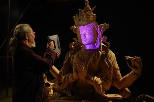 3D Scanner bei Kunstwerken