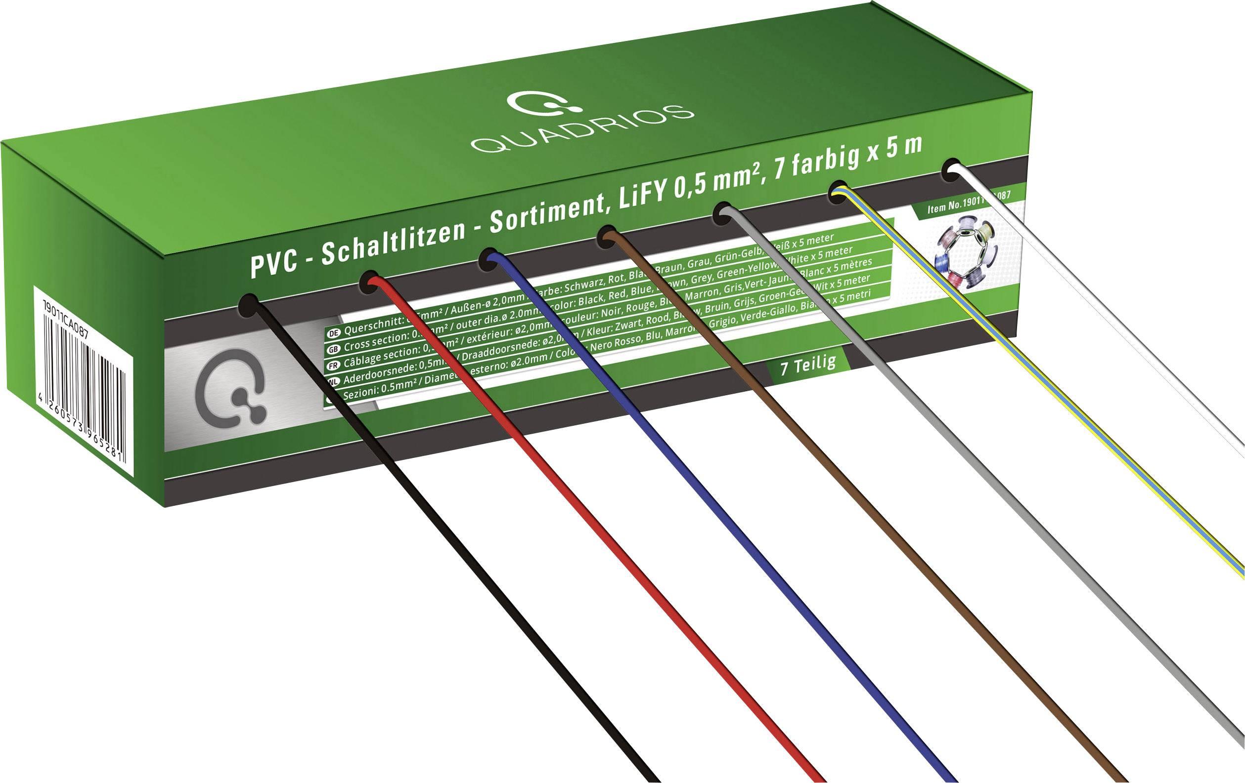 50m Kabel Litze 0,25mm² 1-adrig Rot Kupferlitze Schaltlitze 50 Meter Spule