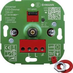 Image of Ehmann 5500x0100 Drehdimmer Geeignet für Leuchtmittel: LED-Lampe, Halogenlampe, Glühlampe