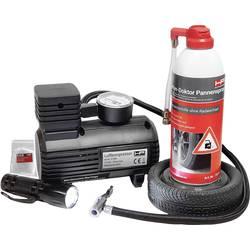 Súprava záplat na opravu duší HP Autozubehör 10257 Reifenpannenset funkcie meranie tlaku v pneumatikách, LED osvetlenie osobné automobily