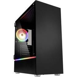 PC skrinka, herné puzdro midi tower Kolink Bastion RGB, čierna