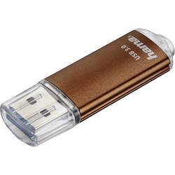 USB flash disk Hama Laeta 124003, 32 GB, USB 3.0, hnedá