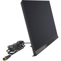 Aktívna plochá DVB-T / T2 anténa Oehlbach Flat Style One, do interiéru, čierna