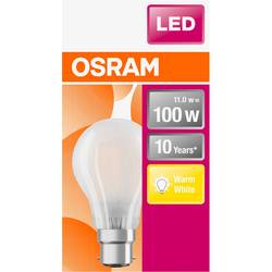 LED žiarovka OSRAM 4058075124691 230, B22d, 11 W, teplá biela, A ++ (A ++ - E), tvar žiarovky, 1 ks