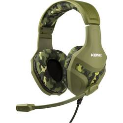 Konix PS-400 herný headset jack 3,5 mm káblový cez uši maskáčová zelená