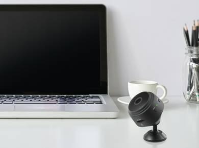 Ungetarnte Überwachungskamera
