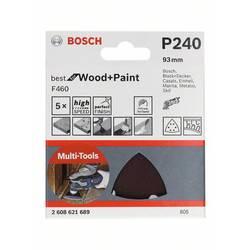 Sada brúsneho papiera pre delta brúsky Bosch Accessories 2608621690 Zrnitosť 60, 120, 240, (d x š) 93 mm x 93 mm, 1 ks