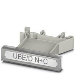 Držiak štítkov Phoenix Contact UBE/D N+C, (d x š x v) 48.5 x 11.6 x 45.9 mm, 10 ks, sivá