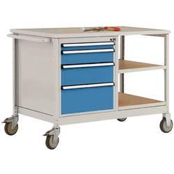 Mobilný pracovný stôl model 1 s naolejovanou multiplexnou krycou doskou 30 mm Š x H x H 1135 x 590 x 810 mm Manuflex MW2001.5012 MW2001.5012