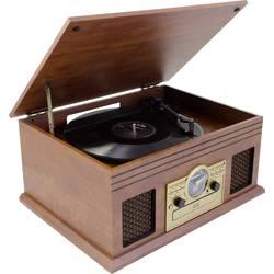 USB gramofón Karcher NO-036 s remienkovým náhonom, hnedá