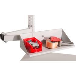 Manuflex ZB3902.2001 Vidění regálové reproboxy držák prvek pro univerzální a PROFI s dvojitým kloubem, Šxhxv= 435 x 165 x 120 mm
