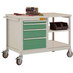 ESD mobilný pracovný stôl model 2 so zásuvkami a policami, ŠxHxH 1135 x 590 x 805 mm Manuflex LW1001.6011 LW1001.6011