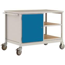 Mobilný pracovný stôl ESD model 3 s dverami a policami, ŠxHxH 1135 x 590 x 805 mm Manuflex LW1003.0002 LW1003.0002