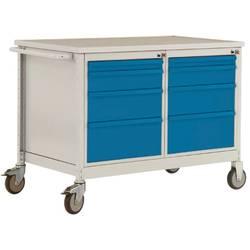 Mobilný pracovný stôl ESD model 4 so zásuvkami, ŠxHxH 1135 x 590 x 805 mm Manuflex LW1004.0002 LW1004.0002