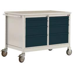 Mobilný pracovný stôl ESD model 4 so zásuvkami, ŠxHxH 1135 x 590 x 805 mm Manuflex LW1004.6011 LW1004.6011