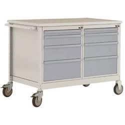 Mobilný pracovný stôl ESD model 4 so zásuvkami, ŠxHxH 1135 x 590 x 805 mm Manuflex LW1004.9006 LW1004.9006