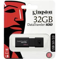 USB flash disk Kingston DT100G3/32GB DT100G3/32GB, 32 GB, USB 3.2 Gen 1 (USB 3.0), čierna