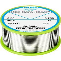 "Spájkovací cín Felder Löttechnik ISO-Core ""Clear"" Sn100Ni+, Sn99.25Cu0.7Ni0.05, cievka, 0.250 kg, 0.5 mm"