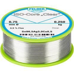 """Spájkovací cín Felder Löttechnik ISO-Core """"Clear"""" SAC305, Sn96.5Ag3Cu0.5, cievka, 0.250 kg, 0.75 mm"""
