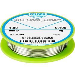 """Spájkovací cín Felder Löttechnik ISO-Core """"Clear"""" SAC305, Sn96.5Ag3Cu0.5, cievka, 0.100 kg, 1 mm"""