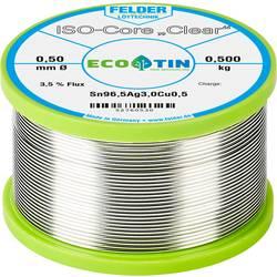 """Spájkovací cín Felder Löttechnik ISO-Core """"Clear"""" SAC305, Sn96.5Ag3Cu0.5, cievka, 0.500 kg, 0.5 mm"""