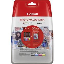 Náplň do tlačiarne Canon CLI-551XL C/M/Y/BK Photo Value Pack 6443B006, čierna, žltá, zelenomodrá, purpurová