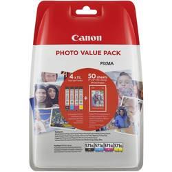 Náplň do tlačiarne Canon CLI-571XL C/M/Y/BK Photo Value Pack 0332C005, čierna, žltá, zelenomodrá, purpurová