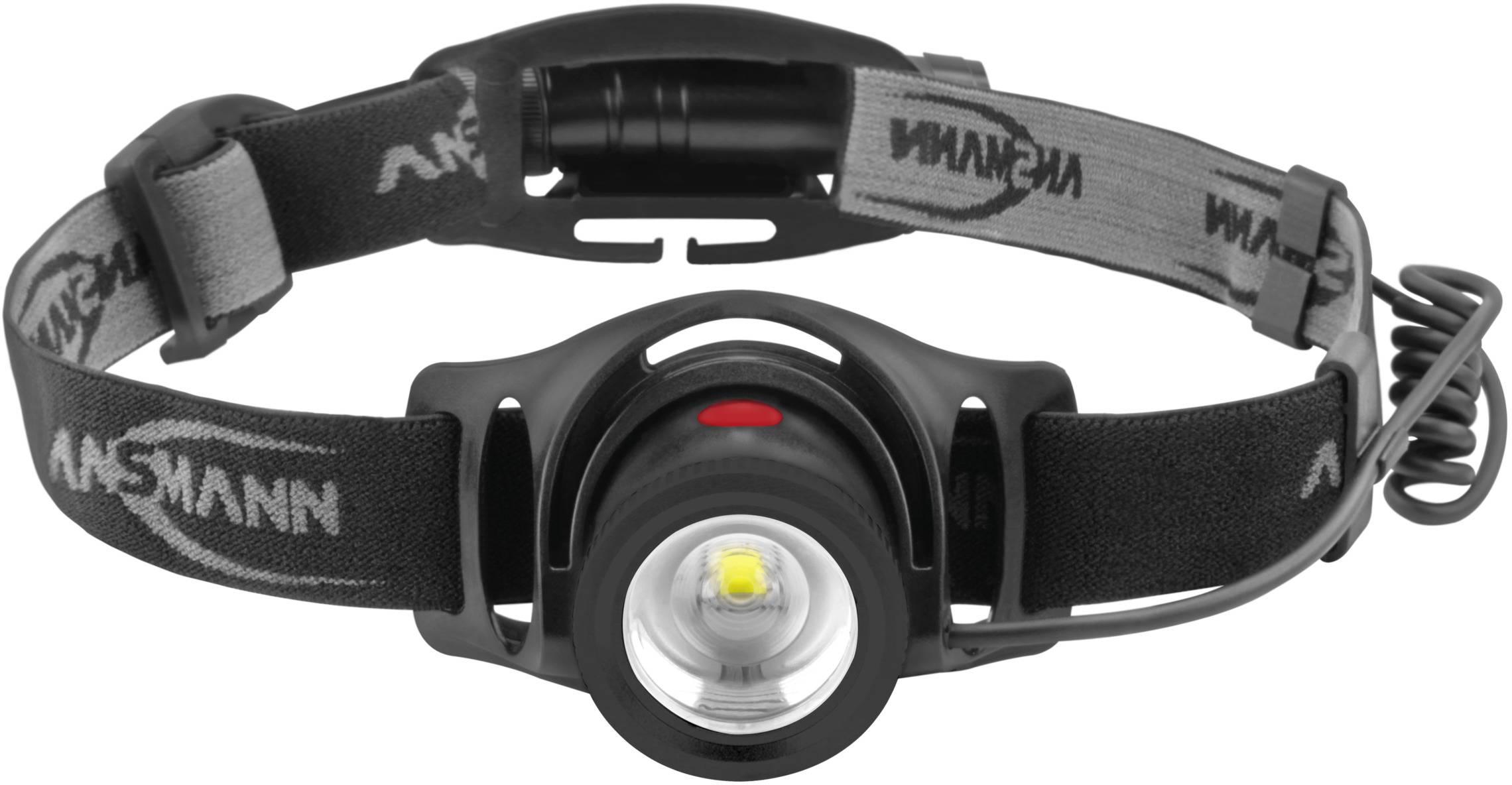 SCHWARZE LED KOPFLAMPE mit integrietem ACCU im Lampenkopf für Angler