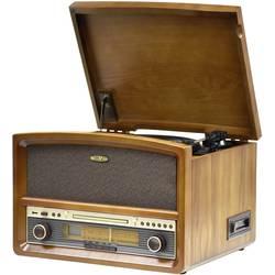 Stereo systém Reflexion AUX, CD, kazeta, gramofón, UKW, USB, Bluetooth, drevo