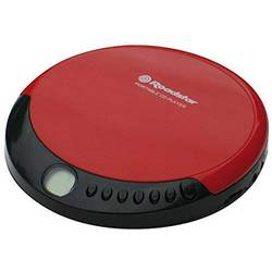 Prenosný CD prehrávač - diskman Roadstar CD, CD-R, CD-RW, výrazné tlačidlá, červená