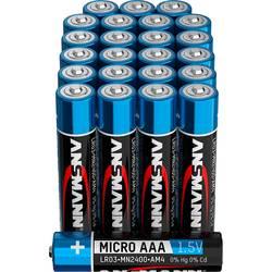 Mikrotužková batérie typu AAA alkalicko-mangánová Ansmann 1.5 V, 24 ks