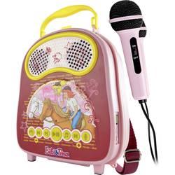 Vybavenie na karaoke X4 Tech Bobby Joey Casey Music Bibi & Tina Bluetooth, USB vr. mikrofónu, ružová
