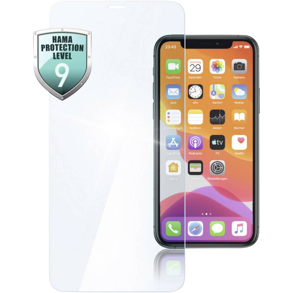 Hama Premium Crystal Glass Displayskyddsglas Lämplig för: Apple iPhone 11, Apple iPhone XS, Apple iPhone 1 st