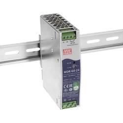 Sieťový zdroj na montážnu lištu (DIN lištu) Mean Well WDR-60-12, 1 x, 12 V/DC, 5 A, 60 W